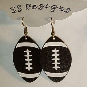 Jewelry - Leather Football Earrings
